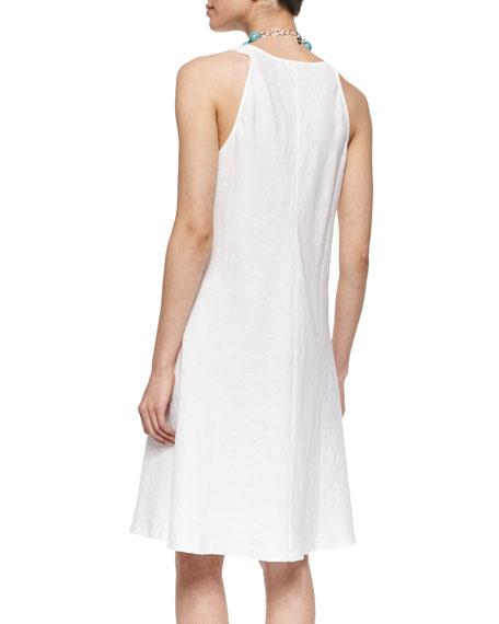 Sleeveless Linen Bias Dress