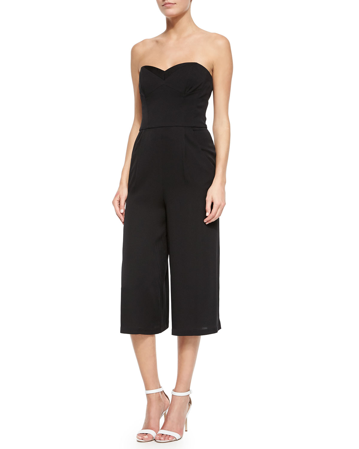 549fa83218a5 Milly Strapless Silk Stretch Jumpsuit