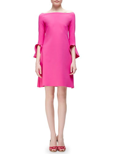 Sheila 3/4-Trumpet-Sleeve Dress