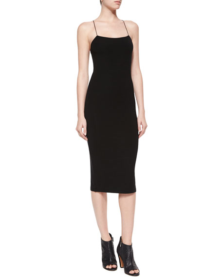 Cutout Stretch-modal Dress - Black Alexander Wang Cheap Manchester Great Sale All Seasons Available Genuine Outlet Free Shipping Authentic wpqSPBK