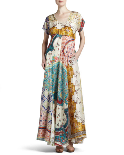 Long Patchwork Dress, Women