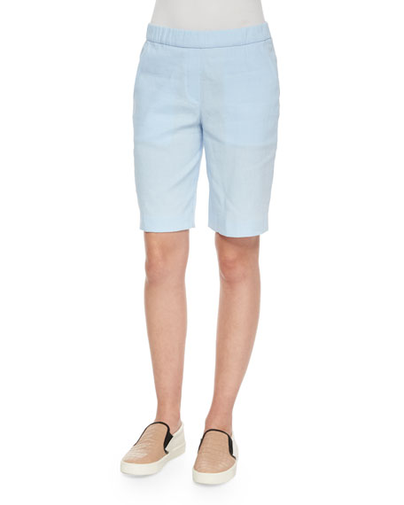 Theory Thanella Bermuda Shorts, Sail Blue