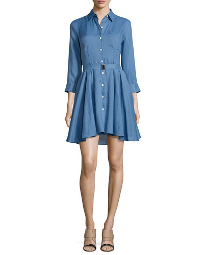 Jalyis Sunny Belted Shirtdress