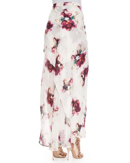 Asymmetric Multi-Layered Maxi Skirt