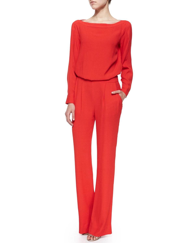 eccfbd6c1d28 Diane von Furstenberg Cynthia Long-Sleeve Jumpsuit