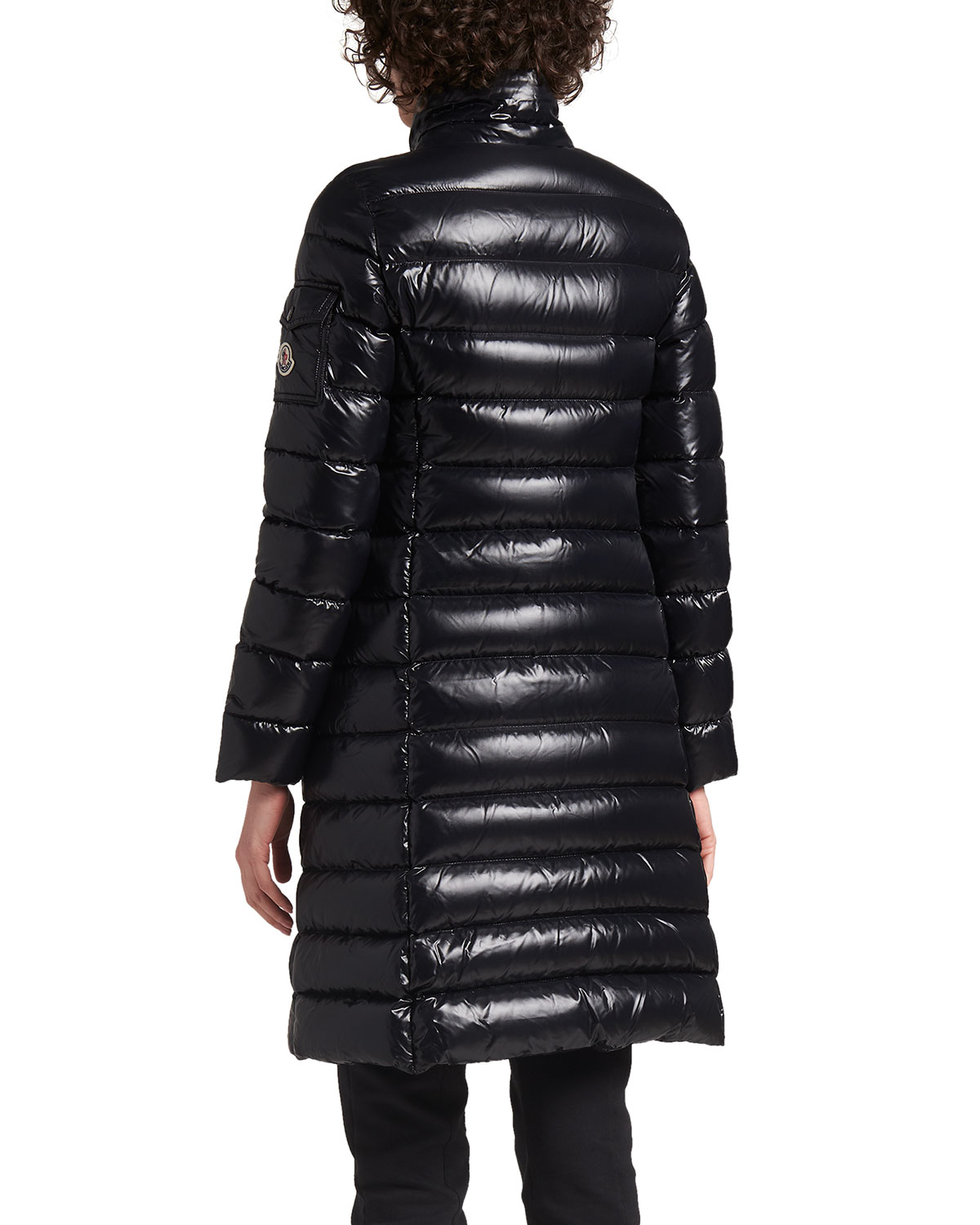 uk availability bef83 3ccaa Moka Shiny Fitted Puffer Coat with Hood