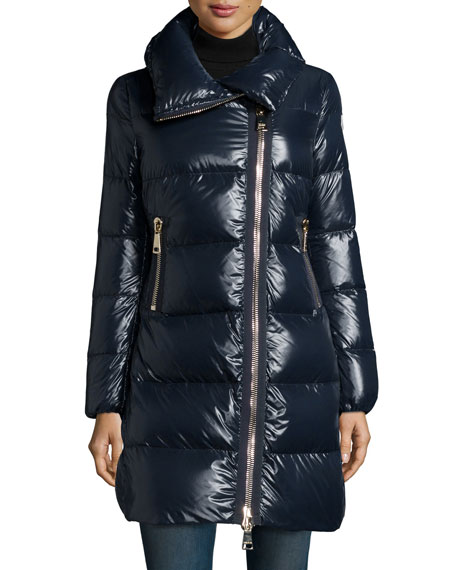 moncler joinville high collar puffer jacket navy. Black Bedroom Furniture Sets. Home Design Ideas