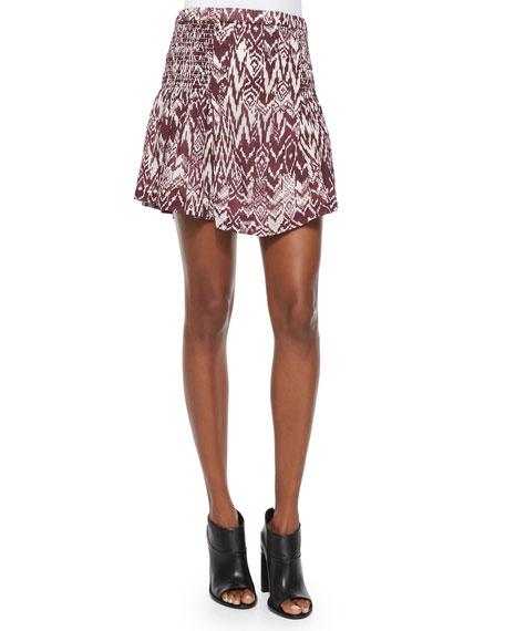 Iro Adele Printed Shirred Skirt