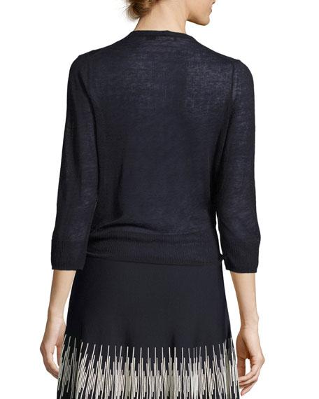 4-Way Linen-Blend Knit Cardigan, Plus Size