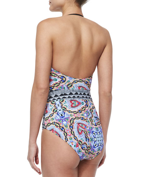 Tropical Topaz Printed Underwire One-Piece Swimsuit