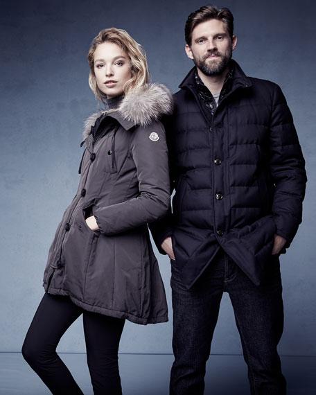 Arriette Fur-Trim Puffer Coat