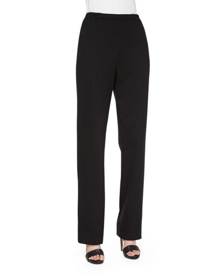 Caroline Rose Ponte Straight-Leg Pants