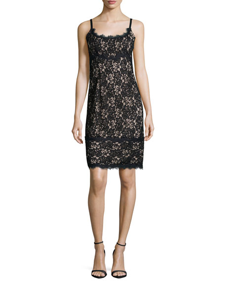 Diane von Furstenberg Olivia Sleeveless Lace Sheath Dress,