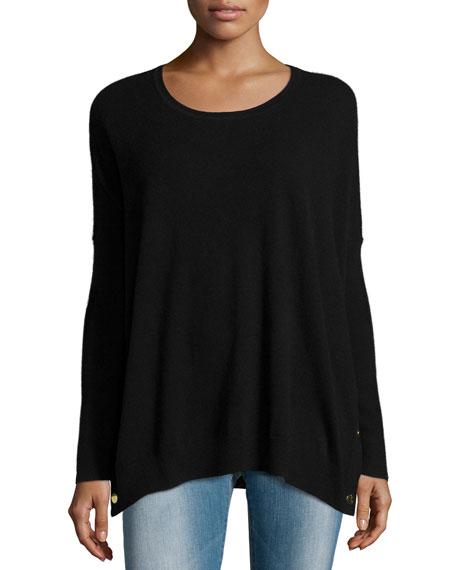 Long-Sleeve Wool-Cashmere Tunic, Petite
