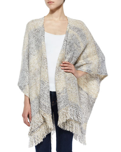 Matricia Poncho Cardigan with Fringe