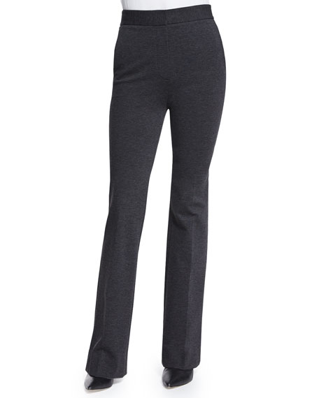 Theory Garetto Fixture Ponte Pants, Charcoal