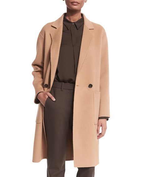 Theory Cerlita Double-Face Wool/Cashmere Coat, Camel