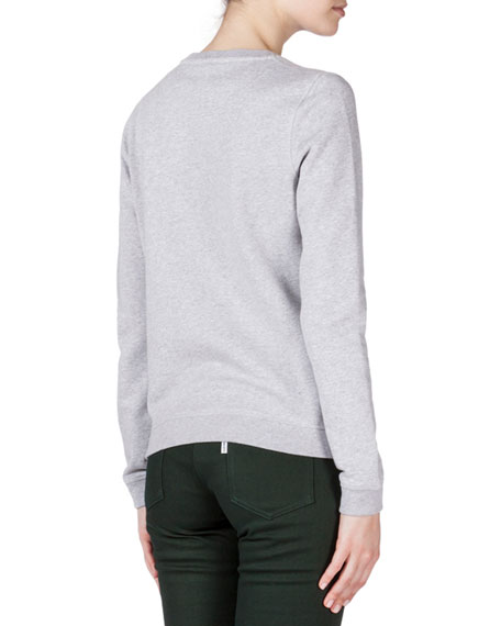 Embroidered Kenzo Sweatshirt, Pale Gray
