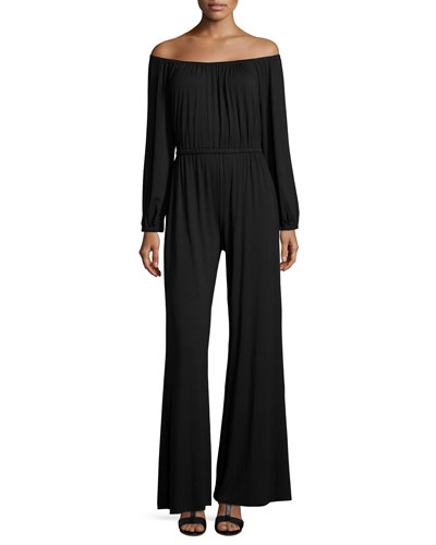 Paolo Off-the-Shoulder Jumpsuit