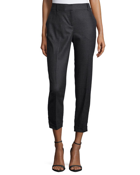 Eileen FisherTwill Ankle Trousers