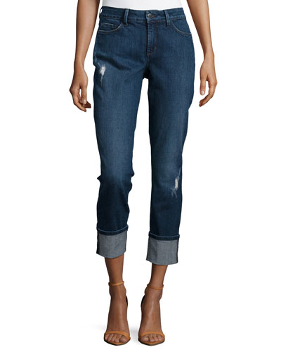 Lorena Slim-Fit Boyfriend Capris, Redding