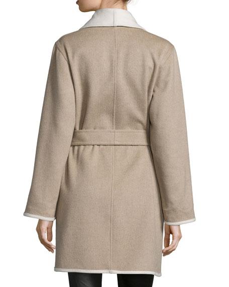 Reversible Double-Face Wrap Coat