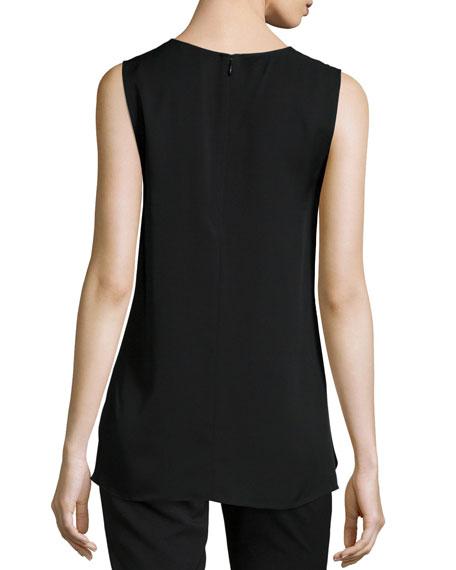 Laycee Arched-Hem Silk Top