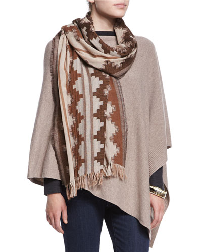 Wool Interval Jacquard Scarf