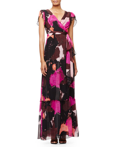 New Julian Two Maxi Wrap Dress, Dancing Explosion