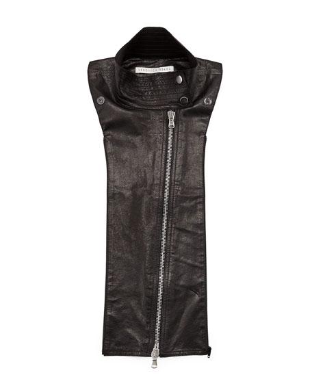 Lamb Leather Moto Dickey, Black