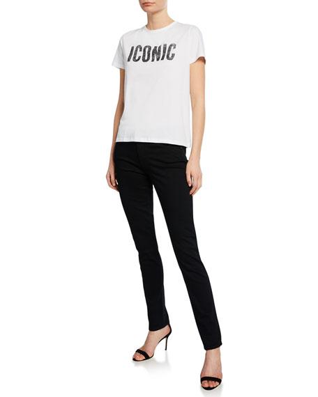 AG Prima Mid-Rise Skinny Jeans, Super Black