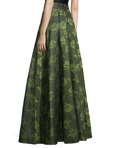 Floral Jacquard Skirt