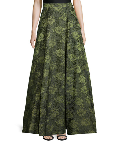 Alice + Olivia Floral Jacquard Skirt