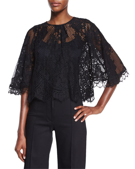 Alexis Giana Lace Top, Black