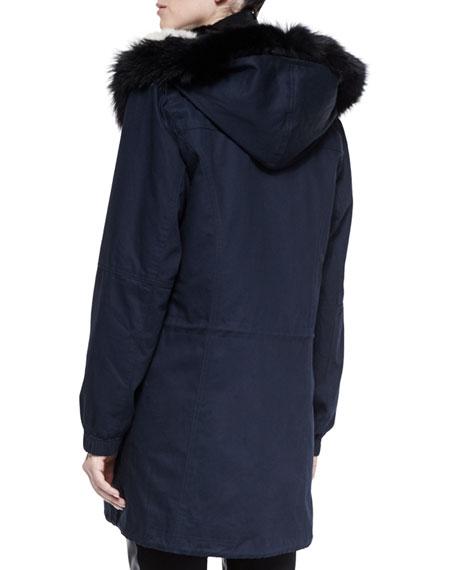 Fur-Lined Hooded Parka