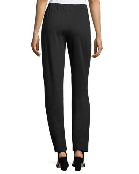 Plus Size Ponte Slim Pants, Black