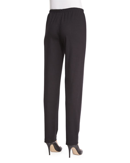 Ponte Slim Pants, Black, Plus Size