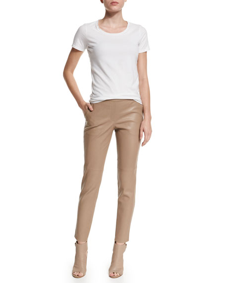Thaniel Leather Cropped Pants