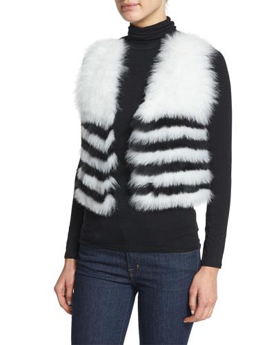 Fox-Fur Cropped Vest