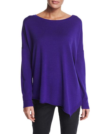 Eileen Fisher Merino Jersey Asymmetric Tunic, Petite