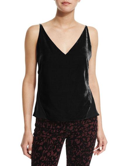 J Brand Lucy V-Neck Camisole, Black
