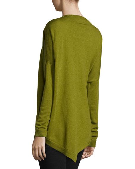 Merino Jersey Asymmetric Tunic