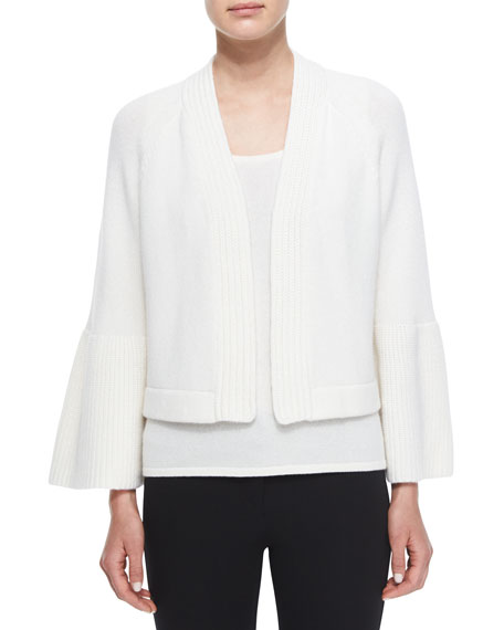 Derek Lam for Neiman Marcus Cashmere Collection Cashmere Ruffle-Sleeve Cardigan