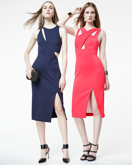 Sleeveless Ponte Curve Splice Dress