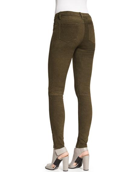 Suede Super-Skinny Pants, Camo