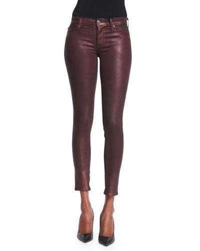 Hudson Krista Skinny Ankle Jeans, Metallic Amber