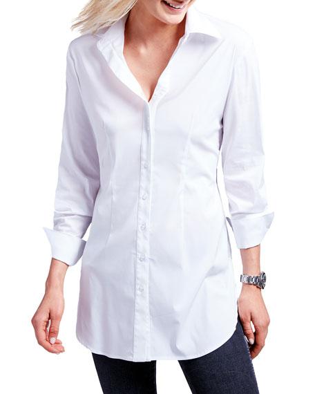 Finley Kaylynn Button-Front Tunic, White