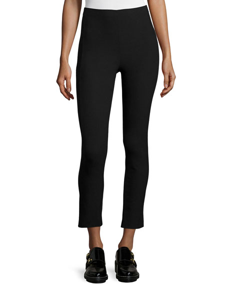 Rag & Bone Simone Cropped Stretch Pants, Black