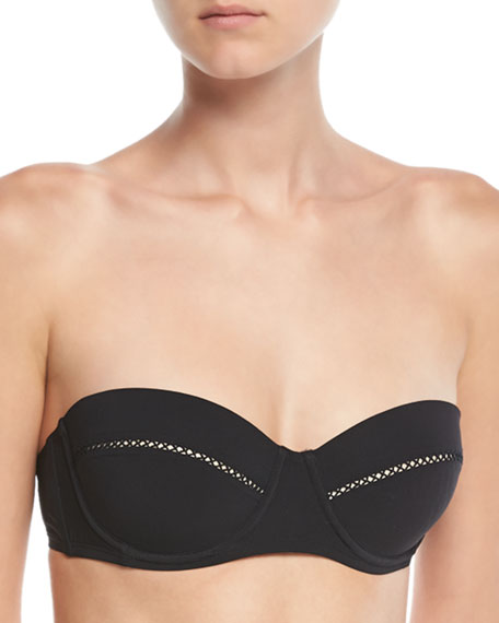 Lattice-Insert Underwire Swim Top