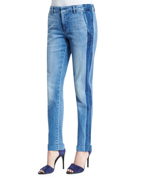 Vince Denim Side Strapping Pants Neiman Marcus